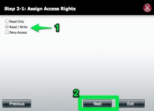 DNS-320 Assign Rights