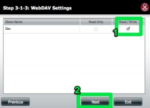 DNS-320 Network Share WebDav Settings