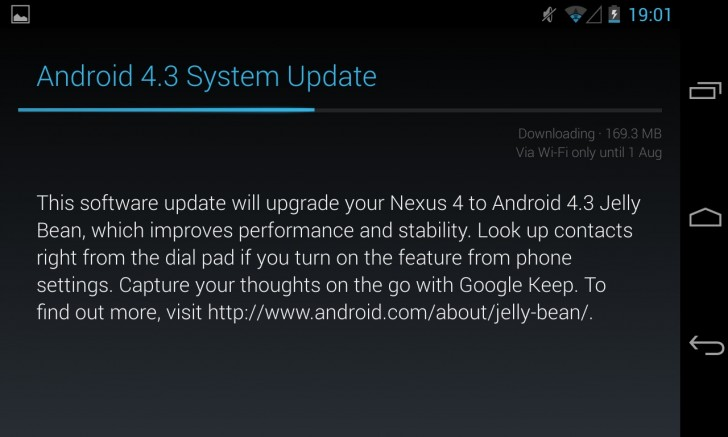 Android 4.3 rolled out in the UK