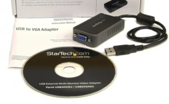 Add another display with a USB to VGA adapter