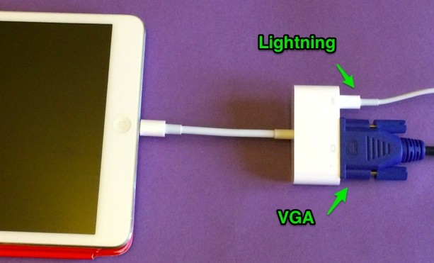 Lightning to VGA Adapter - Apple