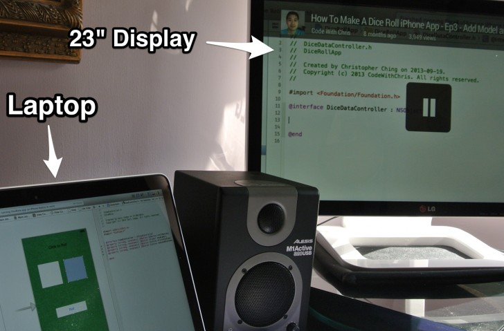 Laptop and Screen Using Chromecast