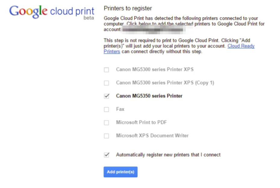 Printing from a Chromebook Add Devices