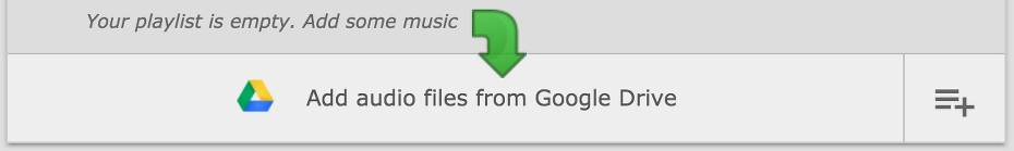 Add audio files from Google Drive