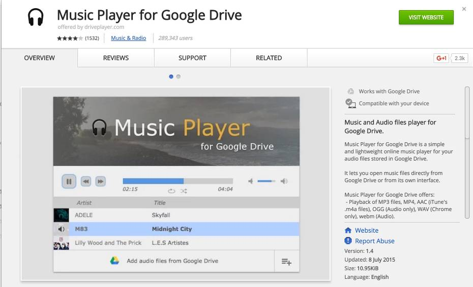 Play audiobook on a Chromebook