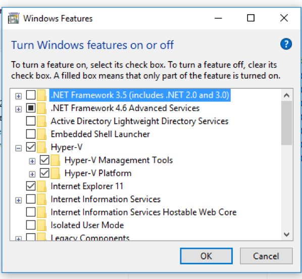 Installing Hyper-V on Windows 10 Pro 4