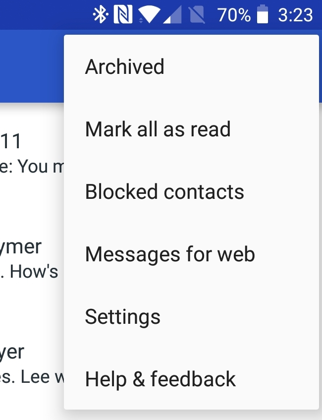 Android Messages - Messages for Web